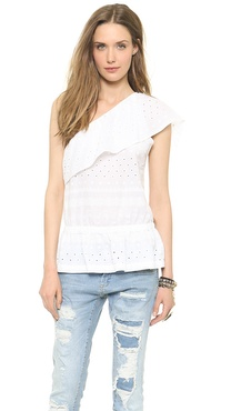 Rebecca Minkoff Wave One Shoulder Top