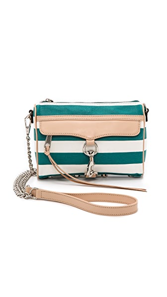 Rebecca Minkoff Striped Canvas Mini MAC Bag