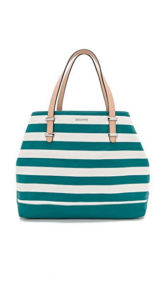 Rebecca Minkoff Striped Canvas Cherish Tote