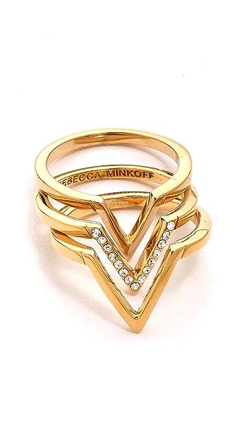 Rebecca Minkoff V Stack Rings