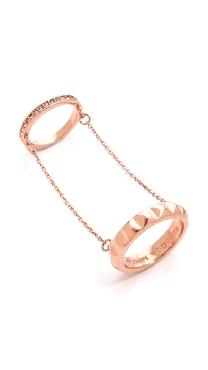 Rebecca Minkoff Studded Chain Ring