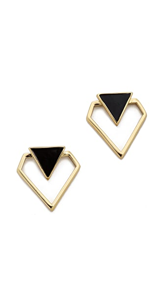 Rebecca Minkoff Open Blade Stud Earrings