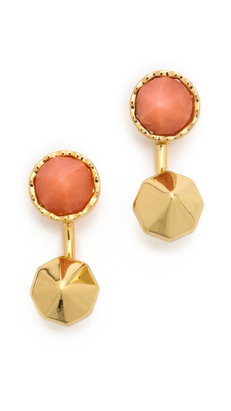 Rebecca Minkoff Front Back Post Earrings