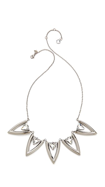 Rebecca Minkoff Stone V Station Necklace
