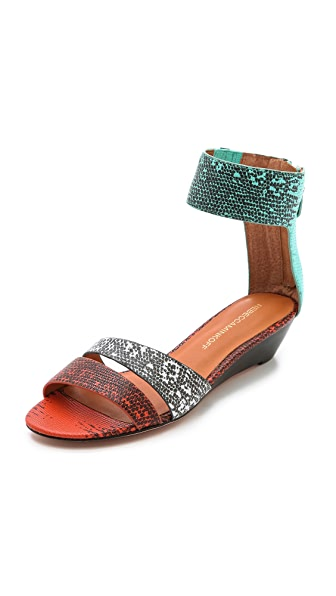Rebecca Minkoff Lore Embossed Sandals