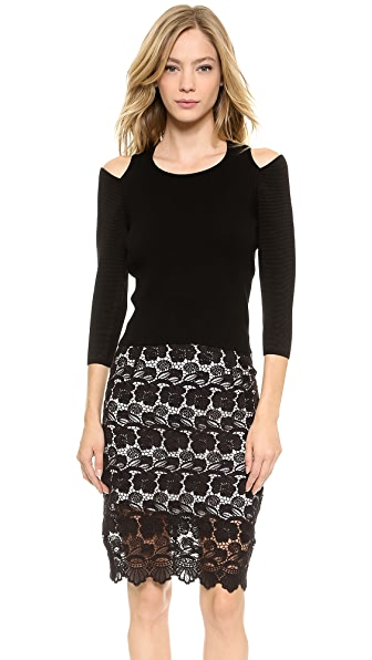 Rebecca Minkoff Beau Split Shoulder Sweater