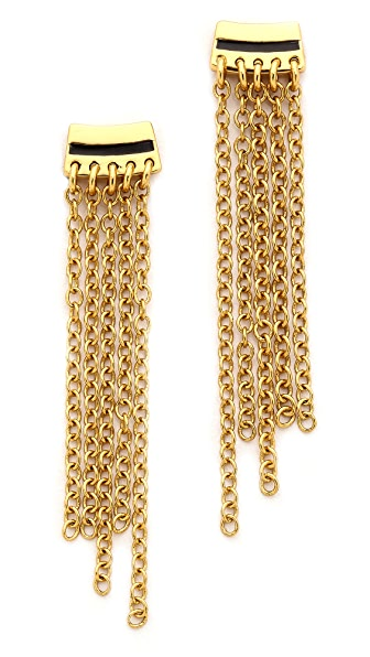 Rebecca Minkoff Small Fringe Post Earrings