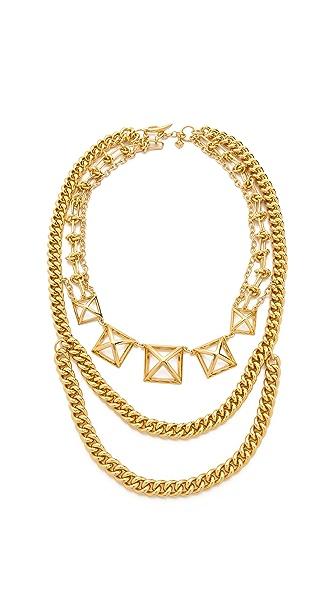 Rebecca Minkoff Pyramid Cutout Statement Necklace