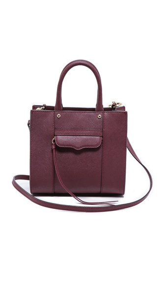 Rebecca Minkoff Mini Mab Tote - Black Cherry