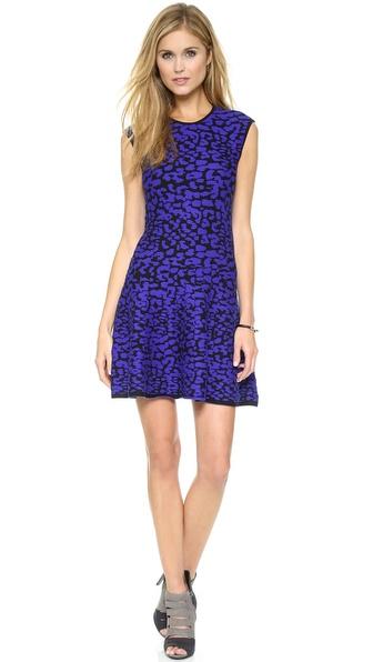 Kupi Rebecca Minkoff haljinu online i raspordaja za kupiti Rebecca Minkoff Leopard Dress Royal Multi online