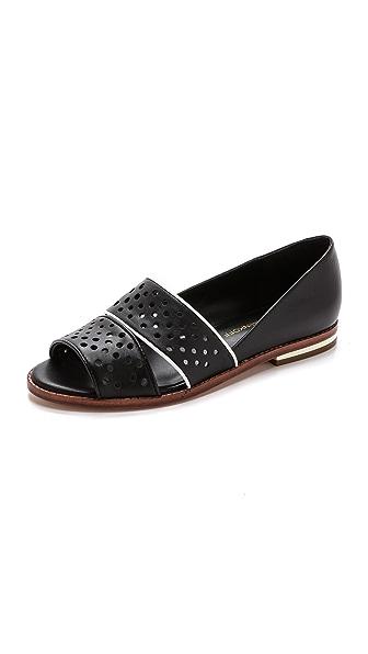 Rebecca Minkoff Rebecca Minkoff Sadie Open Toe Flats (Black)