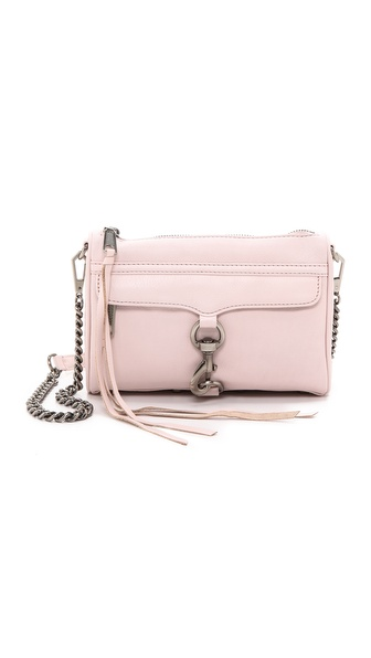 Rebecca Minkoff Mini Mac Cross Body Bag - Pale Pink