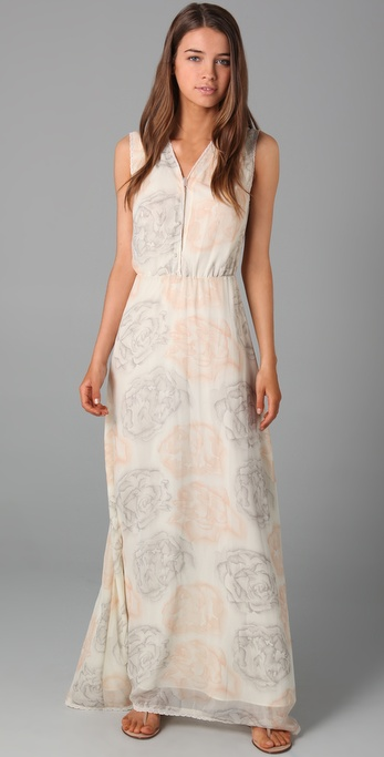 Robbi & Nikki Water Lily Maxi Dress