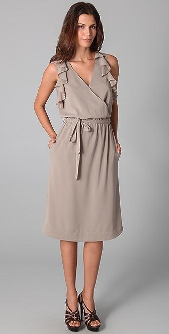 Robbi & Nikki Ruffle Pleated Dress