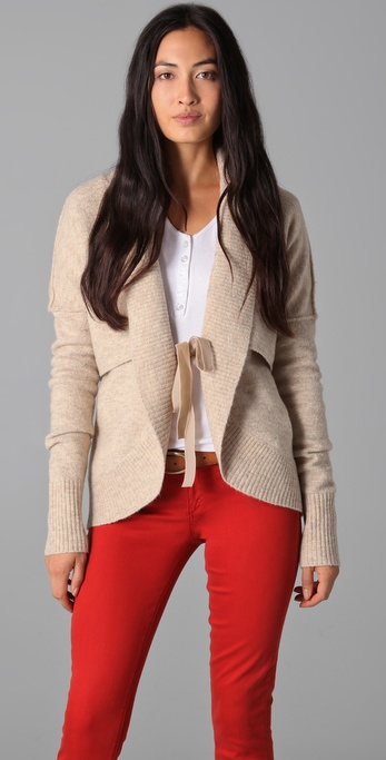 Robbi & Nikki Ribbed Collar Cardigan
