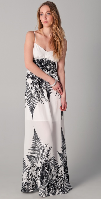 Robbi & Nikki Forest Print Long Dress