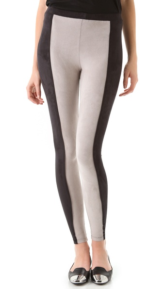 Robbi & Nikki Colorblock Suede Leggings
