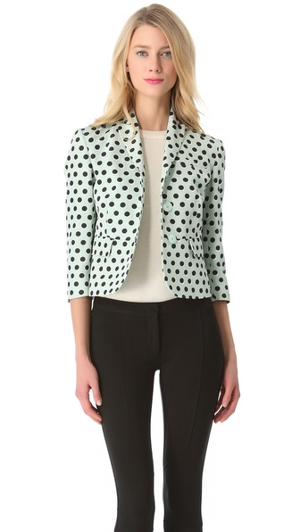 Rochas Polka Dot Cropped Blazer