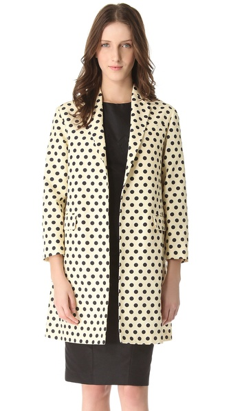 Rochas Polka Dot Coat