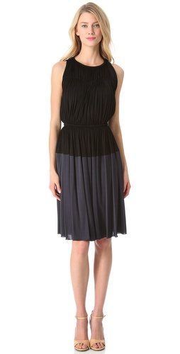 Rochas Sleeveless Two Tone Dress