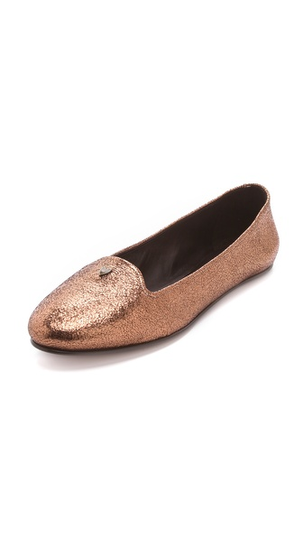 Rochas Metallic Flats