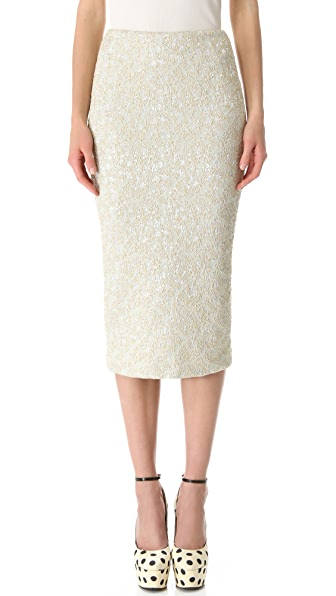 rochas below the knee pencil skirt shopbop