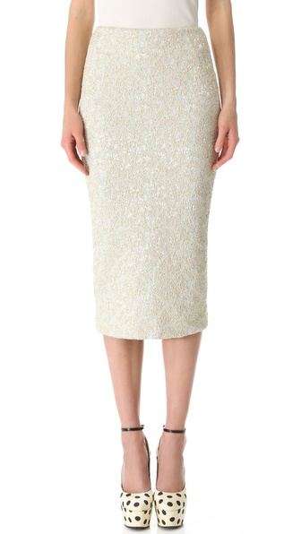 Rochas Below the Knee Pencil Skirt