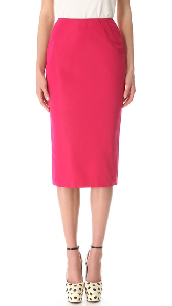 Rochas Faille Pencil Skirt