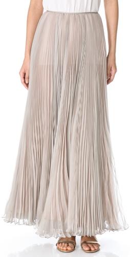 Rochas Pleated Maxi Skirt