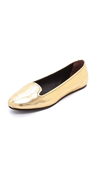 Rochas Gold Slipper Flats