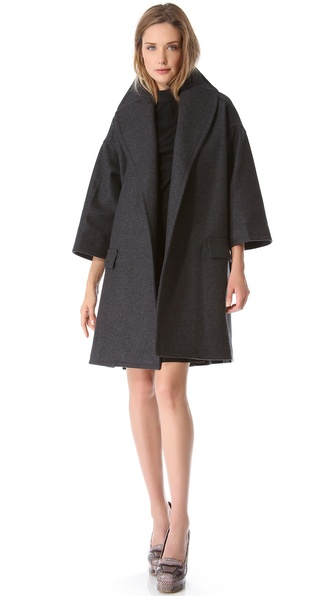 Rochas Oversized Open Coat