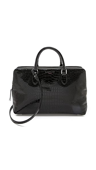 Rochas Double Zip Handbag