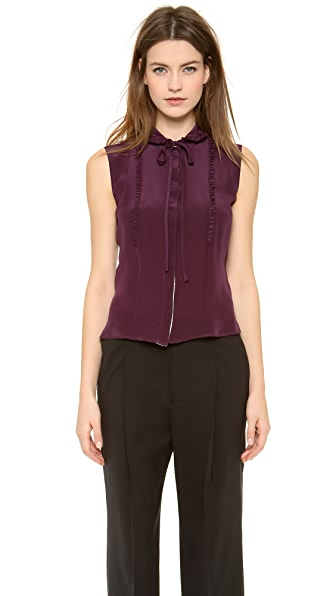 Rochas Ruffle Sleeveless Blouse