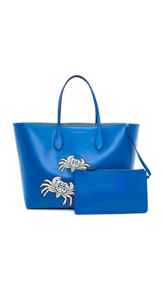 Rochas Applique Leather Tote