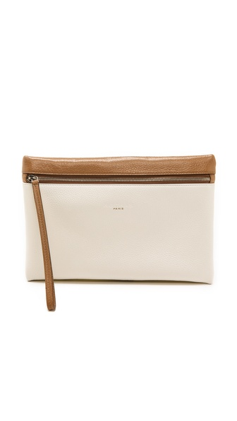 Rochas Leather Ipad Clutch - Optical White at Shopbop / East Dane