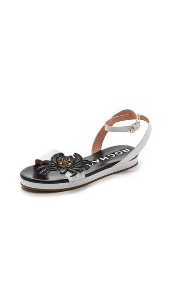 Rochas Crab Flat Sandals