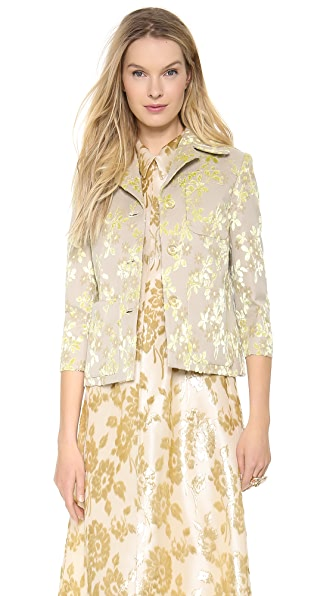 Rochas Flocked Jacket