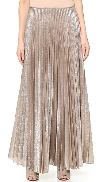 Rochas Lurex Pleated Skirt