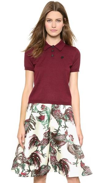 Rochas Knit Short Sleeve Top