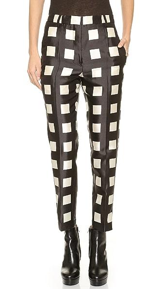 Rochas Check Skinny Pants