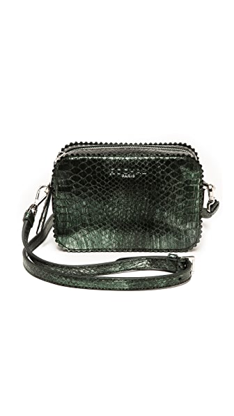 Rochas Embossed Metallic Shoulder Bag