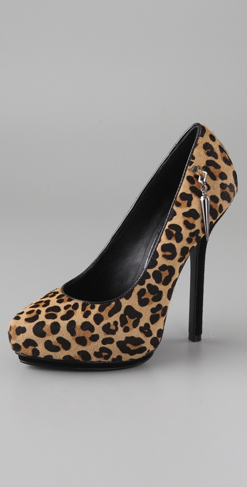 Rock & Republic Celina Haircalf Platform Pumps