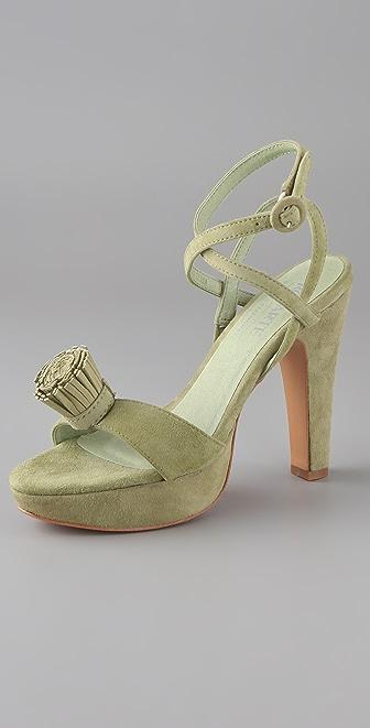 Rodarte for Opening Ceremony Pom Pom Platform Sandals