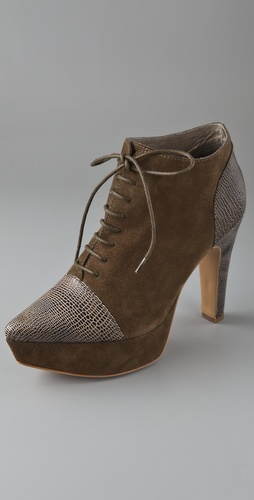 Rodarte for Opening Ceremony Suede Cap Toe Platform Booties