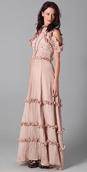 Rodarte for Opening Ceremony High Neck Maxi Dress
