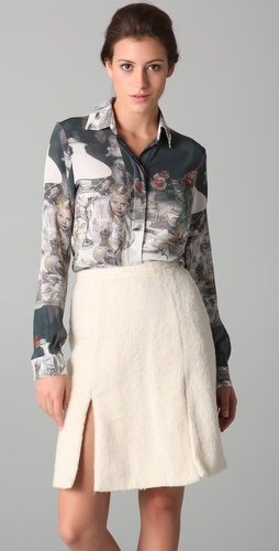 Rodarte for Opening Ceremony Print Button Down Blouse