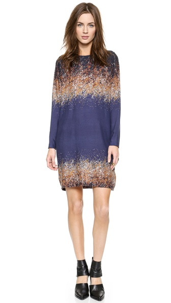Shop Rodebjer online and buy Rodebjer Candice Dazzle Print Dress Twilight Blue Dazzle online