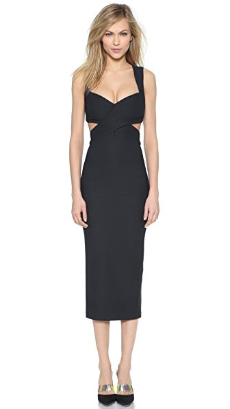 Kupi Ronny Kobo haljinu online i raspordaja za kupiti Ronny Kobo Bree 3-D Rib Knit Dress Navy online