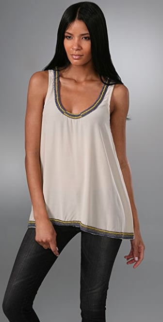 Rory Beca Trapeze Tank with Beading