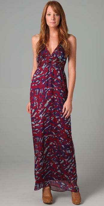 Rory Beca Print Maxine Halter Gown